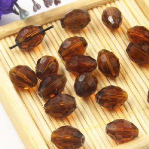 Beads, Auralescent Crystal, Crystal, Brown , Faceted Oval, 8mm x 8mm x 12mm, 1 bead [Sold Individually], [ZZC263]